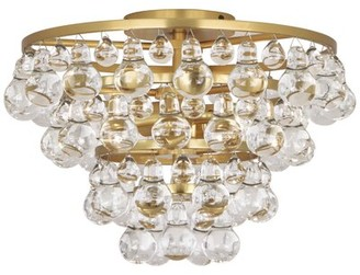 Rob-ert Robert Abbey Bling 2-Light Flush Mount Robert Abbey Fixture Finish: Antique Brass
