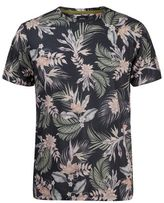 Burton Mens Black All Over Floral Print T-Shirt