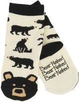 Little Blue House by Hatley Kids Animal Socks - Black Bear - 2-4 Years