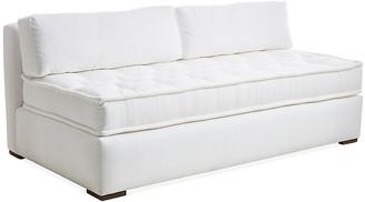 One Kings Lane Lane Tufted Sofa - White Crypton