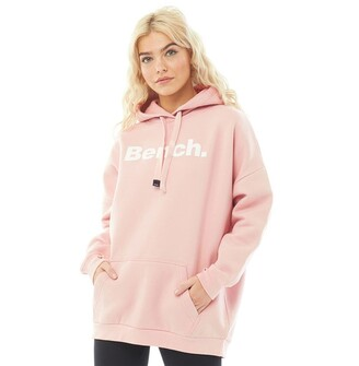Bench Womens Trademark Oversized Hoodie Pale Pink