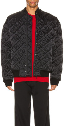 Balenciaga Quilted Bomber in Black | FWRD