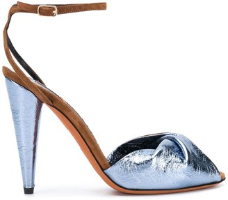 Missoni Two-Tone Leather Sandals
