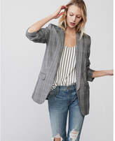 Express windowpane shawl collar boyfriend blazer