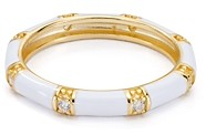 Argentovivo Enamel Ring in 18K Gold-Plated Sterling Silver