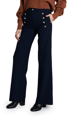 Chloé High-Waist Flare Leg Sailor Trousers
