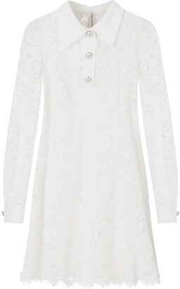 Dolce & Gabbana Long-Sleeved Lace Mini Dress
