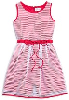Blush by Us Angels Girls' Mesh Overlay Dress - Sizes 7-16