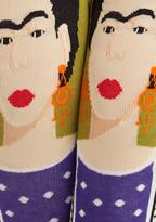 FRIDA Be Me Socks in Green and Purple