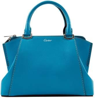 Cartier C Blue Leather Handbags
