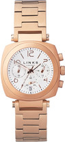 Links of London Brompton rose gold-plated chronograph watch