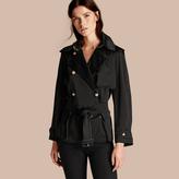 Burberry Oversized Regimental Silk Trench Jacket