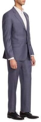 Giorgio Armani Micro Neat Wool Suit