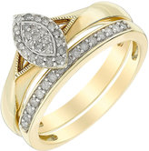 Marquis Perfect Fit 9ct Yellow Gold Diamond Bridal Set