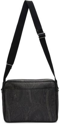 Etro Black Paisley Messenger Bag