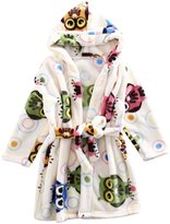 Aivtalk Kid's Hooded Bath Robe Sleepwear Homewear, 2-7 Years
