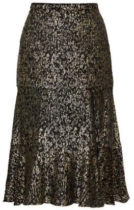 Altuzarra Clementine Lame-velvet Fluted Skirt - Black