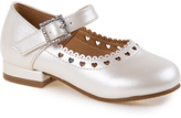 Josmo Beige Pearl Heart Cutout Mary Jane
