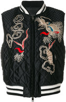Ermanno Scervino dragon embroidered padded jacket - women - Silk/Polyamide/Polyester/Wool - 42