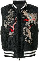 Ermanno Scervino dragon embroidered padded jacket