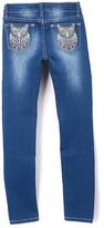 Vigoss Blue It's A Hoot Skinny Jeans - Girls
