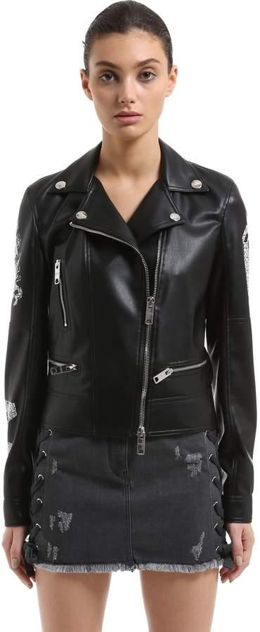Versus Zayn X Faux Leather Biker Jacket