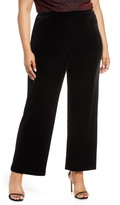 Alex Evenings Flat Front Velvet Trousers