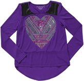 Design History Hi-Lo Top (Toddler/Kid) - Playful Purple-X-Large