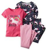 Carter's Size 12M 4-Piece Unicorn Pajama Set in Pink