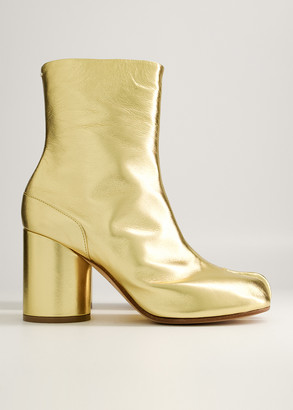 Maison Margiela Women's Tabi Boot in Gold, Size 35 | Leather