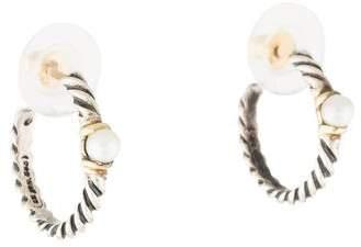 David Yurman Pearl Metro Hoop Earrings