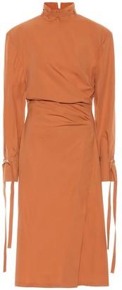 Acne Studios Cotton-poplin midi dress