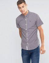 Tommy Hilfiger Poplin Check Short Sleeve Shirt