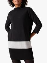 Phase Eight Raya Ripple Stitch Dress, Charcoal