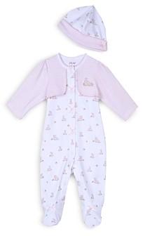 Little Me Girls' Baby Bunnies Footie & Hat Set - Baby