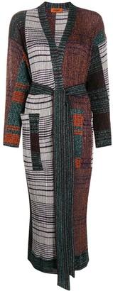 Missoni Colour-Block Belted Coat