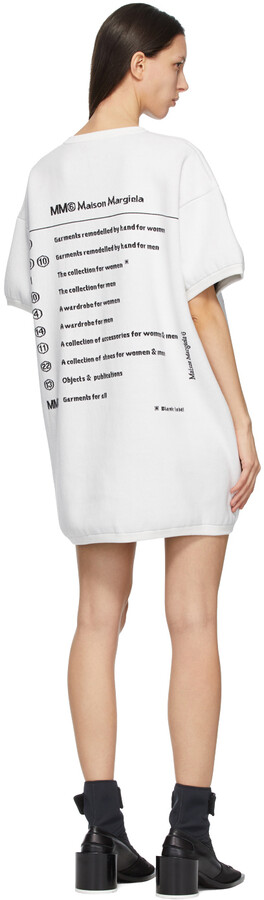 Thumbnail for your product : MM6 MAISON MARGIELA Off-White Knit Logo Dress