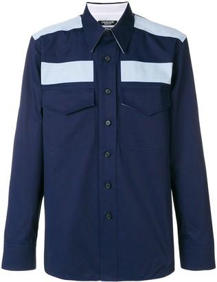 Calvin Klein colour-block fitted shirt