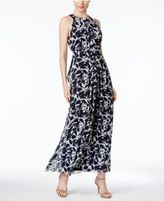 Ronni Nicole Floral-Print Chiffon Halter Maxi Dress