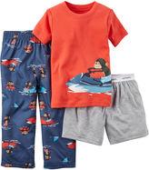 Carter's 3-pc. Monkey Pajama Set - Baby Boys newborn-24m