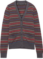 Marc Jacobs Wool-jacquard Cardigan - Gray