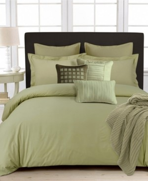 Tribeca Living 350 Thread Count Cotton Percale Oversized King Duvet Covet Set Bedding