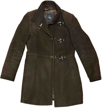 Fay Brown Cotton Coat for Women