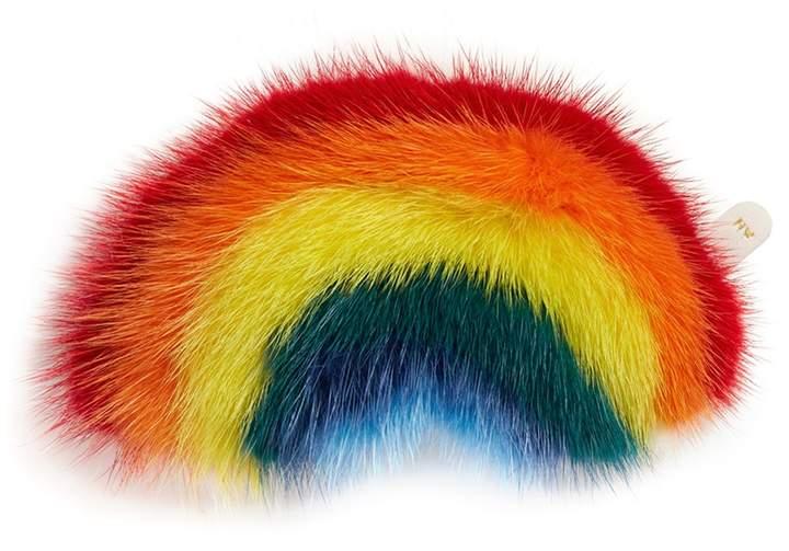 Anya Hindmarch 'Rainbow' mink fur sticker