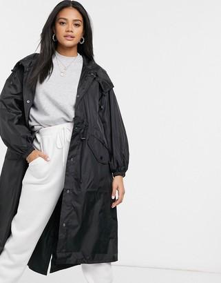 ASOS DESIGN lightweight hooded jacket in black