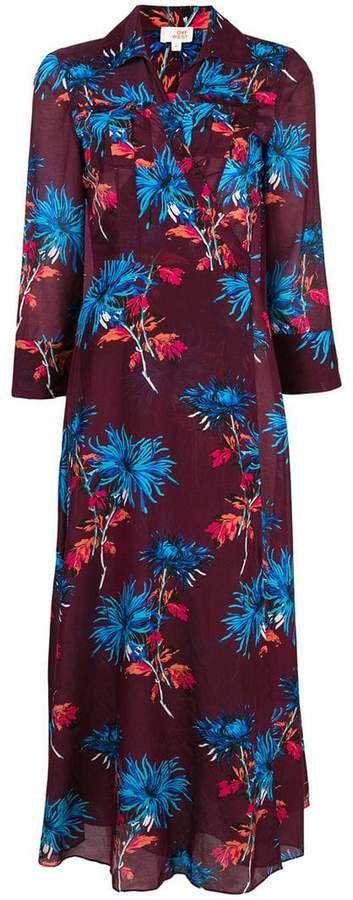 Diane von Furstenberg floral printed flared dress