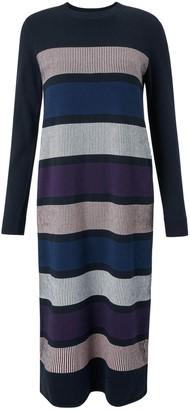 Armedangels Elvi Knitted Dress - S / Black - Black/Blue/Pink