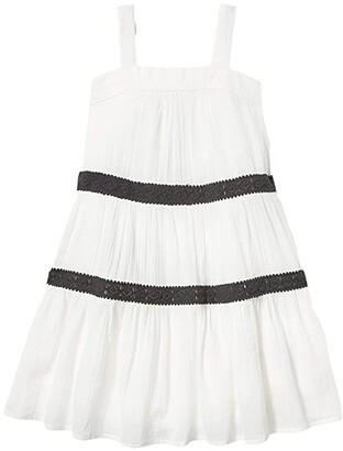 Janie and Jack Crochet Dress (Toddler/Little Kids/Big Kids) (White) Girl's Clothing