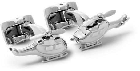 Deakin & Francis Helicopter Rhodium-Plated Cufflinks
