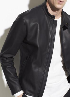 Vince Leather Cafe Racer Jacket